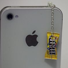 Peanut M&M phone dust plug.