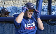 https://flic.kr/p/RfMvmJ | Josh Donaldson obviously enjoyed his first outdoor BP of the spring.