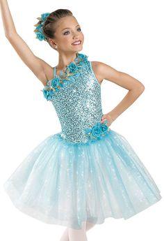 Floral-Trimmed Ballet Dress; Weissman Costumes