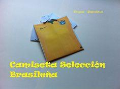 Origami - Papiroflexia. Camiseta selección Brasileña 2014. Mundial de fú...