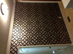My finished stenciled wall. Stencil from Cutting Edge Stencils