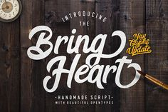 Bring Heart & Extras from FontBundles.net in Font Collection Volume II