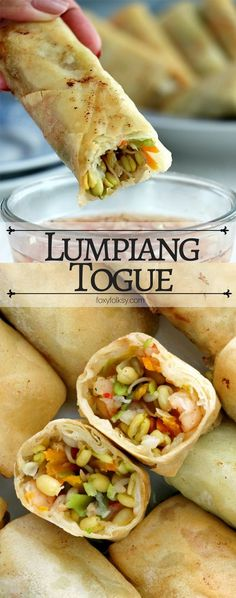 Lumpiang Togue (Mung Bean Sprouts Spring Rolls) - Try this Lumpiang Togue recipe for a delicious, easy and healthy spring rolls with mung bean sprout - Bean Sprout Recipes, Vegetable Recipes, Vegetarian Recipes, Cooking Recipes, Healthy Recipes, Vegetable Salad, Vegetable Dishes, Lunch Recipes, Healthy Food