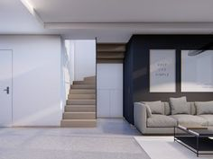 Projekt domu Alicja N 2G+ (TLC-163) - 138.55m² Facade House, Stairs, Home Decor, Stairway, Staircases, Interior Design, Ladders, Home Interior Design, Ladder