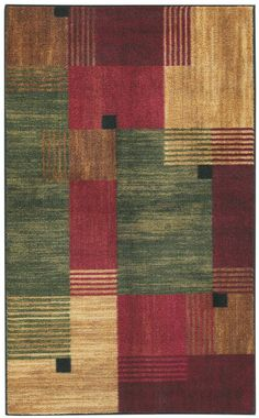 rugpal.com: Contemporary Rectangle Green Red Color Mohawk Alliance Collection