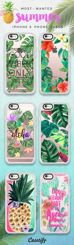 Most favourite Summer 2016 iPhone 6 protective phone case designs | Click through to see more iPhone phone case idea. Summer is upon us! >>> https://www.casetify.com/collections/summer | @casetify
