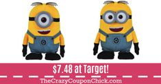 **SUPER HOT** Despicable Me 3 Walk & Talk Dave or Stuart ONLY $7.48 (Originally $25) at Target! Target Deals, Despicable Me 3, Minions, Hot, Fictional Characters, The Minions, Fantasy Characters, Minions Love, Minion Stuff