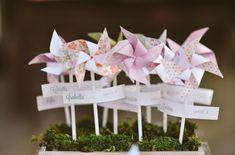 la decoración de mis mesas: Decoracion a base de molinillos de papel I