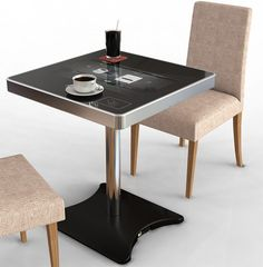 Moneual Touch Table PC. Restaurant of the future. Order your food, pay your bill, and surf the web.