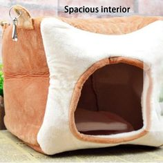 Winter Square Pet Cotton Nest House Warm Washable for Chinchilla Guinea Pig Rabbit Squirrel Hedgehog Small Pet Carrier, Bread Shaping, Pet Carriers, Suede Material, Chinchilla, Pet Store, Guinea Pigs, Squirrel, House Warming