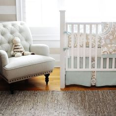 Picket Fence Neutral Baby Bedding