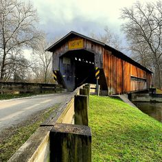 Benetka Road Covered Bridge in Sheffield Township, #Ohio