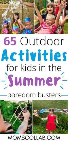 List Of Outdoor Activities, Weather Activities, Summer Activities For Kids, Activities To Do, Summer Kids, Games For Kids, Summer Games, Children Games, Babysitting Activities