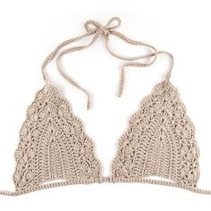 Image of Triangle Crochet Bikini Bra – Beige is creative inspiration for us. Get more photo about home decor related with by looking at photos gallery at the bottom of this page. We are want to say thanks if you like to share this post to another people via your …