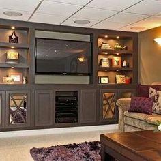 Basement family room built in
