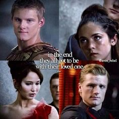 The Hunger Games. Cato and clove got to be together