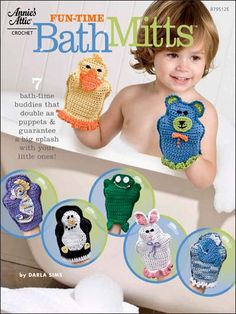 Crochet - Fun-Time Bath Mitts - #879512E