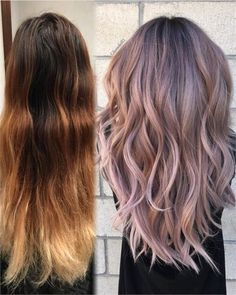 Makeover: faded to dusty lavender - hair color - modern salon Lavender Hair Colors, Hair Color Pink, Lilac Hair, Cool Hair Color, Lavender Hair Highlights, Faded Purple Hair, Dusty Pink Hair, Hair Color 2018, Asian Hair Rose Gold
