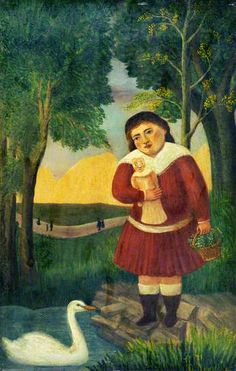 Immagine: Henri Rousseau (French, «Child with a Doll in a . Henri Rousseau Paintings, Avant Garde Artists, France Art, Magic Realism, Post Impressionism, Art Uk, Naive Art, French Artists, Surreal Art