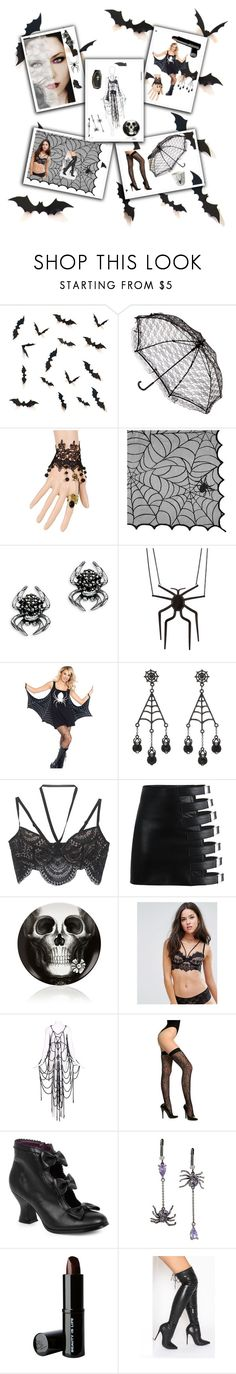 """""""The Spider Woman"""" by phoenix-ufacika ❤ liked on Polyvore featuring WithChic, Avon, Thomas Sabo, claire's, George, For Love & Lemons, Fornasetti, ASOS, Maison Margiela and Betsey Johnson"""