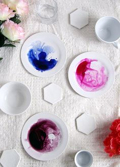 DIY Watercolor Plates - Modern Painted Plates - Make these Plates | Small for Big