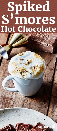Rich coconut milk, unsweetened cocoa powder and vanilla create a hot chocolate that's decadent but not too sweet, which rounds out the booze without masking it completely. But the real treat comes from the garnish, a thick layer of marshmallow fluff that's torched to melty, toasty perfection.