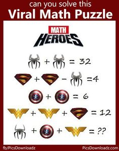 The Viral Math Heroes Puzzle. Only for genius puzzle. Can you solve this viral puzzle. Viral Math Puzzles image with answer.