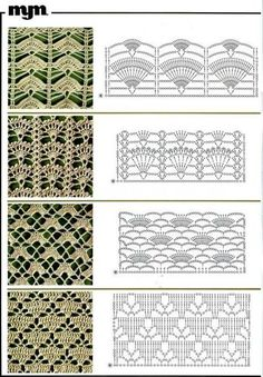 crochet lace charts, patterns