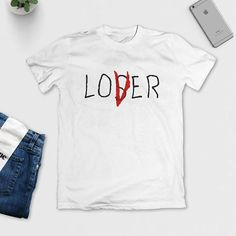 Losers Club T-Shirt - Lover / Loser - IT Movie 2017