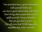 Good Relationship With Yourself