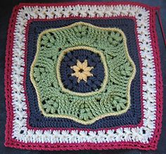 BAMMM Shazaam CAL 2016 Afghan - 16 crochet blocks over 12 months by Margaret MacInnis.