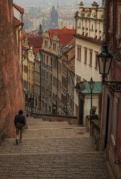 Staircase in Prague, Czech Republic - Zamecke Schody
