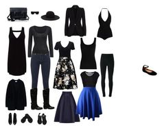 """""""Basic black capsule"""" by oslo on Polyvore featuring Coast, Miss Selfridge, T By Alexander Wang, Givenchy, Twenty, Alexander McQueen, MICHAEL Michael Kors, Acne Studios, The Cambridge Satchel Company and Steve Madden"""
