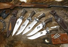 Cuchillos fabricados por Muela para la colección African Safari Series