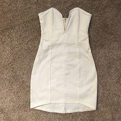 Dress White mini strapless dress Nasty Gal Dresses Mini