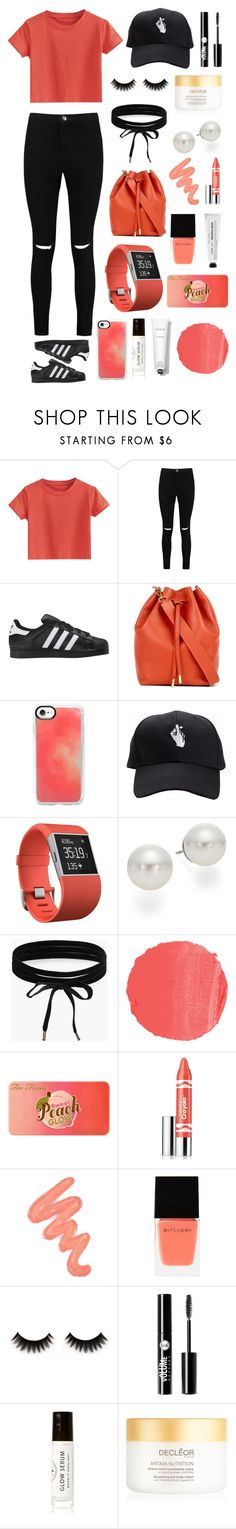 """""""Why would that stop when I'm falling free,"""" by chelsea-beale ❤ liked on Polyvore featuring Boohoo, adidas Originals, Mon Purse, Casetify, Fitbit, AK Anne Klein, NARS Cosmetics, Too Faced Cosmetics, Clinique and Obsessive Compulsive Cosmetics"""