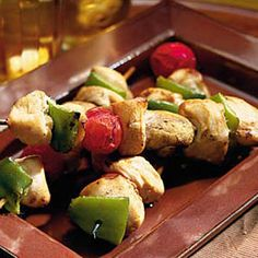 Chicken-Vegetable Kabobs - Easy Grilled Kabobs Recipes - Southern Living