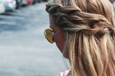 half updo braid