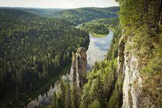 Russia, Perm, Usvinskie Stolby (>120m high)