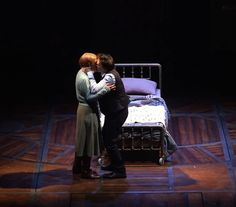 Harry (Jamie Parker) and Ginny (Poppy Miller) share a kiss - Harry Potter and the Cursed Child. And my heart is melting at this moment!!