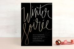 Winter Soiree Holiday Party Invitations by guess what? at minted.com