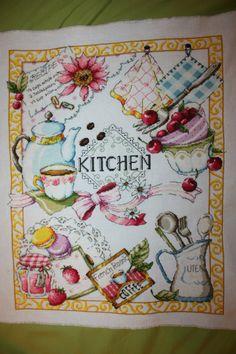 Вышивка миниатюры кухня