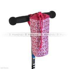 Różowy pokrowiec na butelkę Scootrix