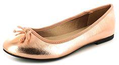 Neu Damen/Womens Rotgold Ballerinas Pumps/Schuhe Mit Schleife - Rotgold - UK GRÖßEN 3-8 - http://on-line-kaufen.de/platino/neu-damen-womens-rotgold-ballerinas-pumps-schuhe