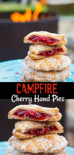 do I have you intrigued? These little delights were… Campfire Cherry Hand Pies….do I have you intrigued? These little delights were made while camping, they are THAT easy! Camping Desserts, Camping Snacks, Camping Cooking, Van Camping, Camping Dishes, Camping Kitchen, Fall Camping Food, Easy Camping Breakfast, Camping Grill