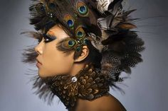 Bird-Inspired makeup by Mark Lim