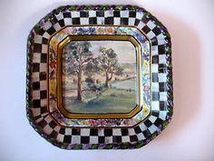 mackenzie childs pottery | MACKENZIE-CHILDS-MacLACHLAN-PLATE-DISH-THIRD-EDITION-2003-ART-POTTERY ...