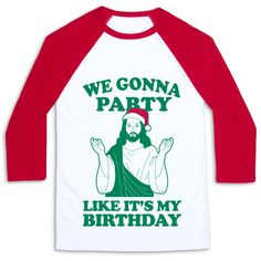 Celebrate Jesus' birthday with this fun, colorful shirt.  Shop our huge collection of Christmas-themed t-shirts, tank tops, pullovers, and hoodies.