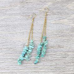 Stone of Healing Earrings Crystal Earrings, Beaded Earrings, Earrings Handmade, Beaded Jewelry, Diy Boho Earrings, Jewellery, Bullet Jewelry, Mom Jewelry, Homemade Jewelry