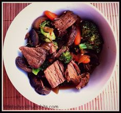Little b's healthy habits: Clean Eating Crock Pot Beef and Broccoli